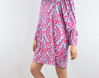 Sale Paisley off shoulder tunic dress S -XL