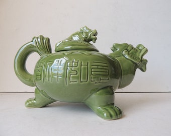 Celadon Turtle Dragon Teapot