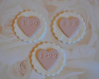Fondant Wedding Cupcake Toppers, wedding cupcake toppers, bride and groom cupcake toppers