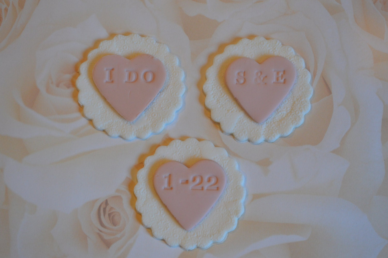 Fondant Wedding Cupcake Toppers wedding cupcake toppers