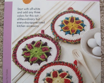Crochet Leaflet - Star Pot Holder - Annie's Scrap Crochet Club - Annie's Attic