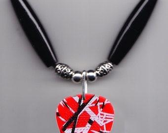 Eddie Van Halen Signature Red Frankenstrat Guitar Pick Necklace - 2015 Tour
