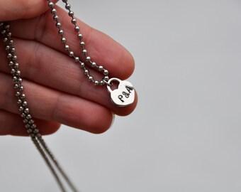 Heart necklace silver heart pendant bridesmaid gift dainty necklace tiny heart necklace silver necklace love necklace initial necklace small