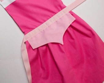 Sleeping Beauty princess Aurora dress up apron for toddlers and little girls