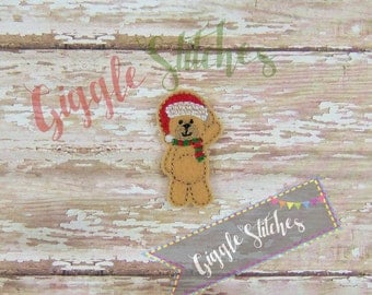 Santa Bear Feltie Embroidery Design