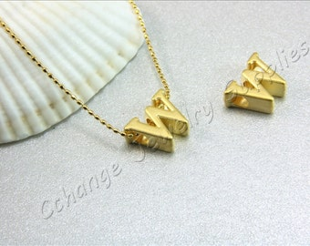 W Gold Letters, 2 pcs Gold Lowercase Letters, Matte Gold Alphabet Letter, 24K Gold Plated Letter, Lowercase Alphabet Letters, Gold Letters