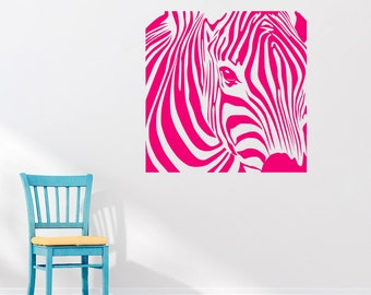 Zebra Print Wall Decals Etsy UK - Zebra print wall decals