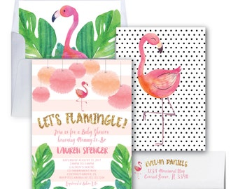 flamingo baby shower invitation letu0027s flamingle invitation gold glitter baby
