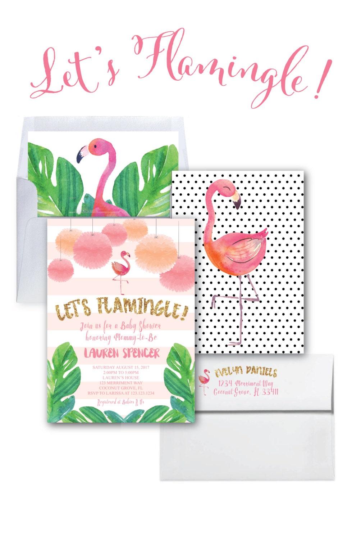 flamingo baby shower invitation let 39 s flamingle