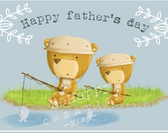 Father's day greeting card-printable-card-present for dad