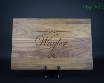 "Personalized Cutting Board, Custom Laser Engraved Cutting Board -11""x17""x1"" (Great Size) - Wedding Gift, Anniversary Gift, Housewarming Gift"
