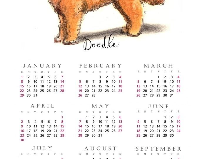 Doodle Dog 2017 yearly calendar