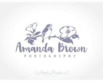 Logo Design (Premade) Bird logo, Flower logo, Photography logo, Boutique Logo, Branch logo