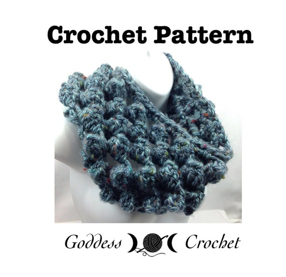 Crochet Pattern, Big Bubble Cowl, super bulky fashion cowl, Crochet ...