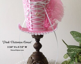 aaartz Pink Mini Top Hat, Tea Party Top Hat, Mini Top Hat DIY, Quinceanera Fascinator