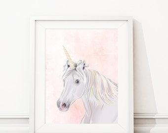 Unicorn Nursery Art. Unicorn Bedroom Art. Unicorn Nursery Decor. Unicorn Bedroom Decor. Unicorn Art. Unicorn Decor. Girl Bedroom Art. S463