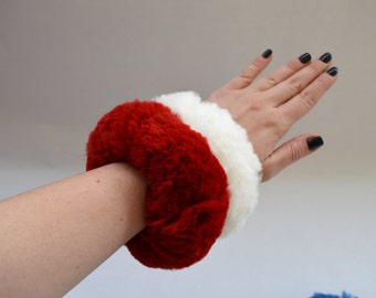 Real fur scrunchies, fur rabbit elastics, real fur bracelet, real fur hair scrunchies, fur bangle, real rabbit fur fashion bangle.