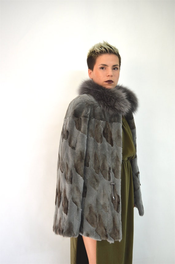 Real sheared fur coat new fox fur coat sheared fox coat with
