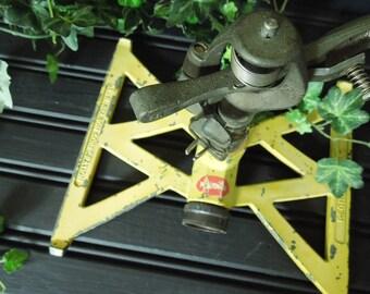 Metal Oscillating Lawn Sprinkler - Garden Decor Vintage Soviet Era Upcycle Repurpose