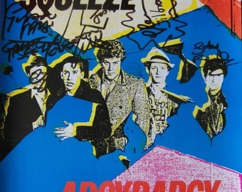 Original 1980 Signed Squeeze Promotional Poster for the Album 'Argy Bargy'.