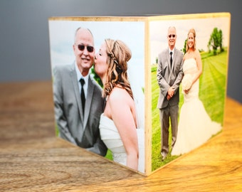 Photo Cube, Personalized Photo Block, Picture Cube, Gift