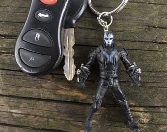 Marvel Captain America Civil War - Crossbones Mini-Figure Key Chain With Custom Gift Box