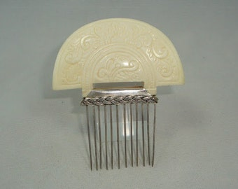 Bone and Silver Comb