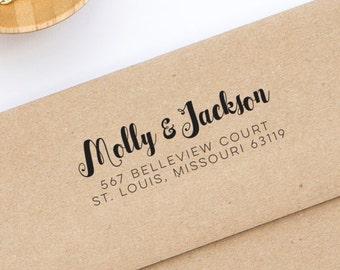 Return Address Stamp, Self-Inking Address Stamp, Personalized Address Stamp - Custom Address Stamp Style No. 131