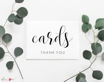 Wedding card sign | Etsy