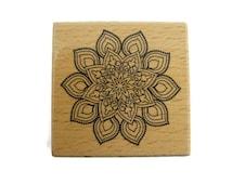 Mandala Rubber Stamp | Zen Stamp | Invitation Stamp | Stationery Stamp | Coloring Stamp | Mandala Stamp | Zen Rubber Stamp | Flower Stamp