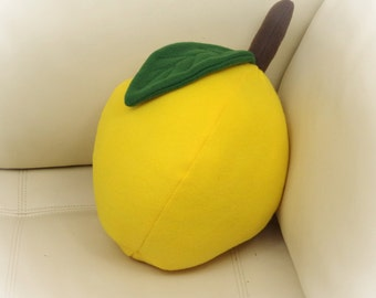 Lemon Pillow, Lime Pillow, Food Pillow, Fruit Pillow, Toy Pillow, 3D Pillow,  Beach House Decor