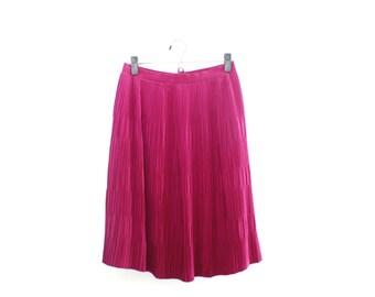 Vintage Purple Pleated Midi Skirt