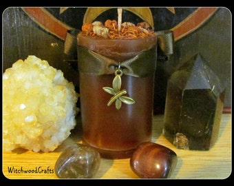 LUGHNASADH FIELDS - Scented Pillar Candle - Lammas Harvest - Cranberry Juniper Woods  - Pagan Wicca - Wiccan Witch - Witchcraft