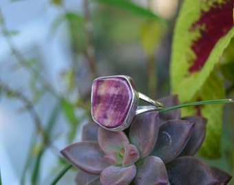 Navajo Sterling Silver Purple Spiny Oyster Ring 7