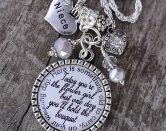 PERSONALIZED FLOWERGIRL GIFT, Personalized Flower Girl Gift, Girl Wedding Gift, Necklace, Wedding Flower Girl Necklace, Flower Girl Jewelry