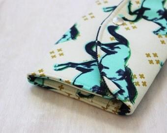 Cash Envelope Wallet, Mustang Fabric, Dave Ramsey, Envelope System, Personalized, Coupon Organizer, Vegan Wallet