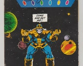 Infinity Gauntlet; Vol 1, 4 Copper Age Comic Book, Signed by George Perez.  NM-. October 1991. Marvel Comics