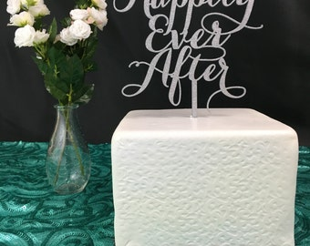 Happily Ever After Cake Topper, Wedding Cake Topper, Engagement Cake Topper, Bridal Shower Cake Topper, Anniversary Cake Topper