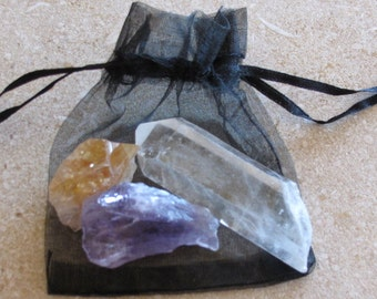 Crystals asorted Quartz,Amethyst and Citrine