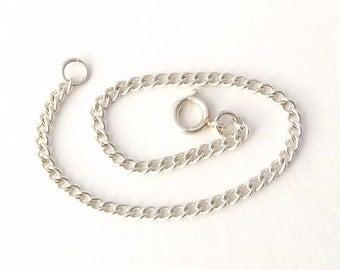 Fine Silver Chain Bracelet | Thin Chain Link Bracelet