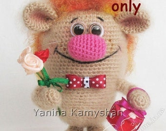 Mr. Charming, amigurumi crochet pattern