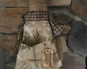 Made to Order: Primitive Grungy Garden Doll Summer Spring