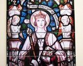 Catholic wall art - St Margaret of Scotland - devotional gift mosaic handmade in Italy from a stained glass by A.K. Nicholson christian