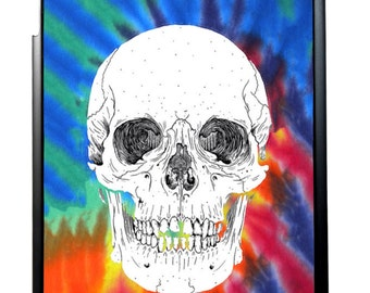 Tie Dye Skull For iPad 2/3/4, iPad Mini 1/2 and iPad Air