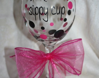 Mom's sippy cup. 20 ounce wine glass. Perfect gift for Mother's Day, Baby Showers and all Moms! (item #1-3-M)
