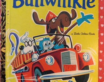 Vintage 1970s Golden Book  - Bullwinkle - based on the popular TV cartoon The Rocky & Bullwinkle Show!