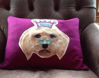 Pet portrait cushion cover