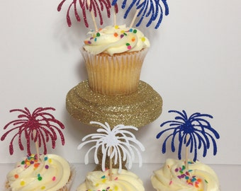 Fourth of July Cupcake Toppers | Independence Day | Fireworks | July 4th | Mermorial Day