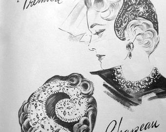 hollywood glamour hair ads 1950s chapeau coifs wedding
