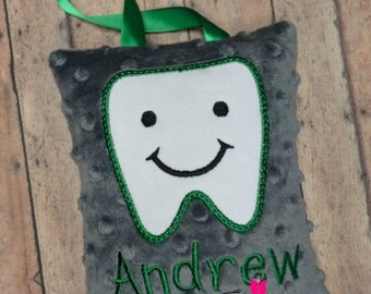 Tooth Fairy Pillow - Minky Tooth Fairy Pillow - Custom Tooth Fairy Pillow - Boy Tooth Fairy Pillow - Girl Tooth Fairy Pillow
